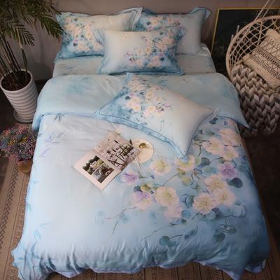 60天丝 蔓芷(蓝) 1.8m(6英尺)床 蔓芷