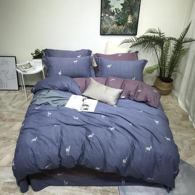 2019秋冬新品全棉磨毛系列 1.8m(6英尺)床 开罗印象-蓝