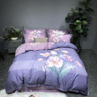秋冬新品60磨毛系列 1.8m(6英尺)床 欣香-紫