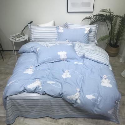 秋冬新品生态磨毛系列 1.8m(6英尺)床 悠悠时光-蓝