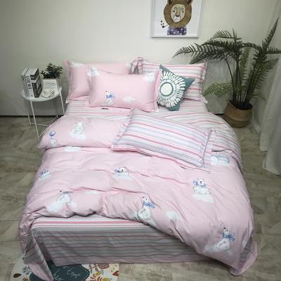 磨毛三件套 1.5m(5英尺)床 悠悠时光-粉