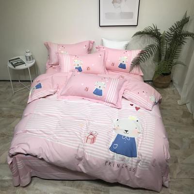 磨毛三件套 1.5m(5英尺)床 艾美天使-粉