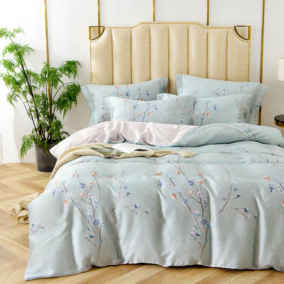 40天丝印花系列 1.8m(6英尺)床 慕青-墨绿