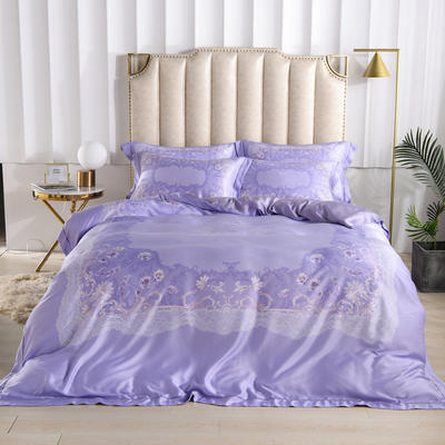 60玻尿酸水光肌天丝印花系列 1.8m(6英尺)床 莉娜-紫