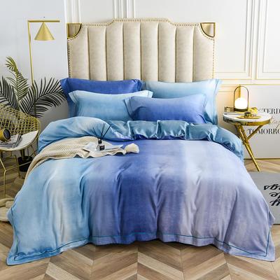 60玻尿酸水光肌天丝印花系列 2.2m(7英尺)床 如歌-蓝