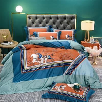 数码百支玺棉系列 2.0m(6.6英尺)床 卡撒天娇-橘