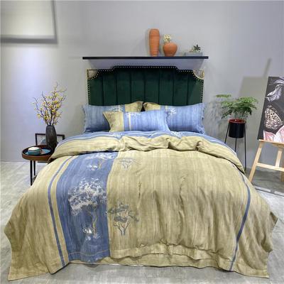 抗菌哆哆绒系列 2.2m(7英尺)床 清风里-蓝