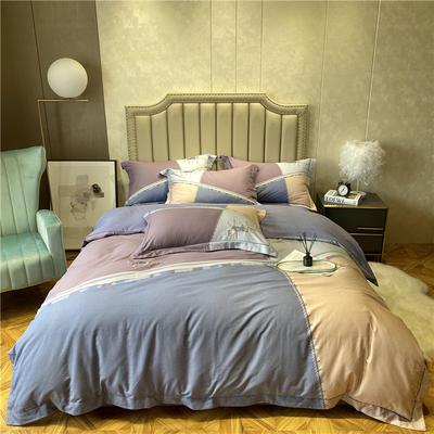 丽维茸印加绣系列 2.2m(7英尺)床 艾伯特-紫