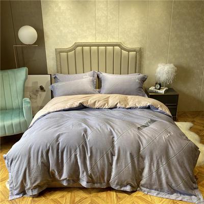 丽维茸印加绣系列 2.2m(7英尺)床 摩登城市-灰