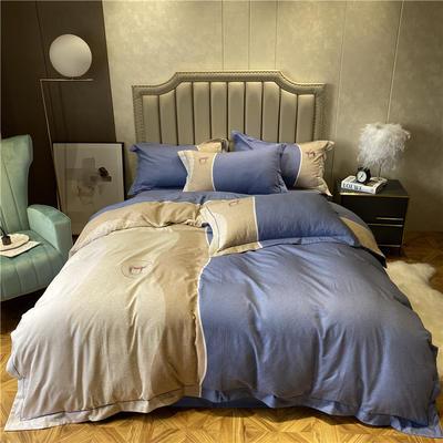 丽维茸印加绣系列 2.2m(7英尺)床 漠路-蓝