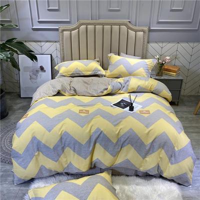 2020秋冬新品全棉磨毛系列 2.2m(7英尺)床 孟菲斯