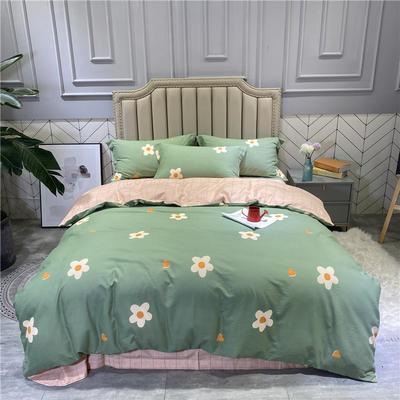 2020秋冬新品全棉磨毛系列 2.2m(7英尺)床 玛丽-绿
