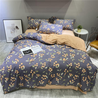 2020秋冬新品全棉磨毛系列 2.2m(7英尺)床 盛夏果实-紫