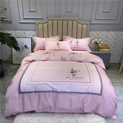 2020秋冬新品全棉磨毛系列 2.2m(7英尺)床 小可爱
