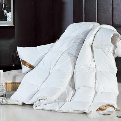 100支贡缎鹅绒被/羽绒被 200X230cm 95%白鹅绒  白色