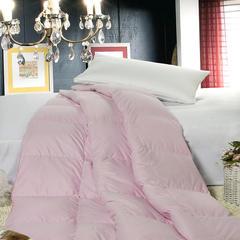 100支贡缎鹅绒被/羽绒被 200X230cm 95%白鹅绒  粉色