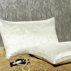 提花款羽绒枕 白色48*74cm