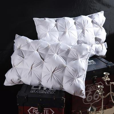 法式面包款 鹅绒枕 白色48*74cm