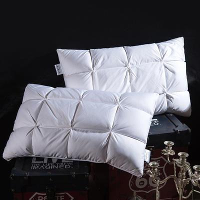 欧式面包款鹅绒枕 白色48*74cm