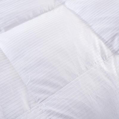 全棉贡缎缎条鹅绒被/羽绒被 200X230cm 95%朵朵绒