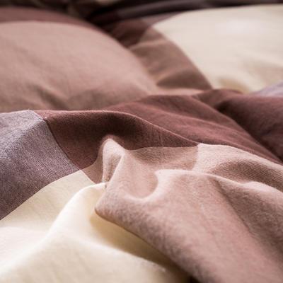 水洗棉咖格鹅绒被/羽绒被 200X230cm 95%朵朵绒