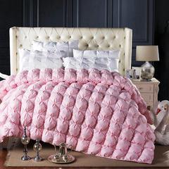 小小玫瑰面包粉色鹅绒被/羽绒被 200X230cm 95%朵朵绒