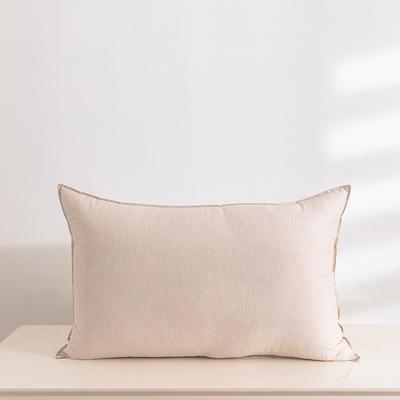 2020新款全棉色纺舒柔枕(48*74cm/只) 卡其