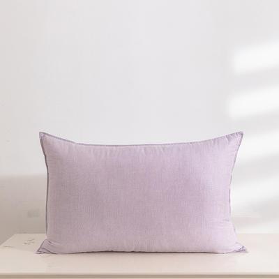 2020新款全棉色纺舒柔枕(48*74cm/只) 紫