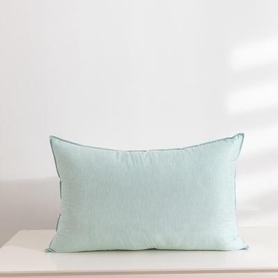 2020新款全棉色纺舒柔枕(48*74cm/只) 绿