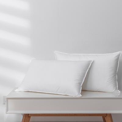 2020新款全棉双针羽丝绒枕头枕芯(48*74cm/只) 白