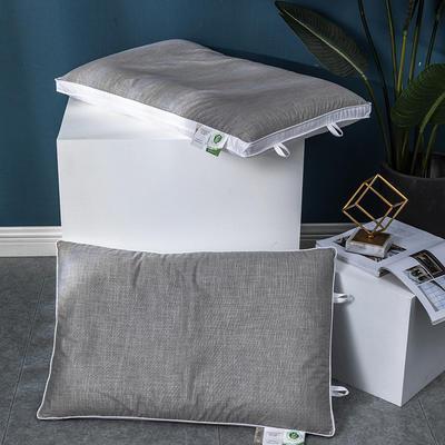 2020新款三维立体荞麦枕头枕芯(48*74cm/只) 灰