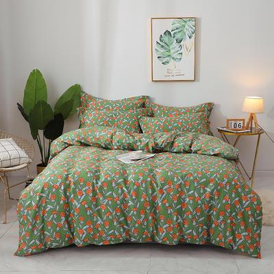 2020新款13372全棉印花四件套八月新款 1.5m床单款四件套 朵拉花园