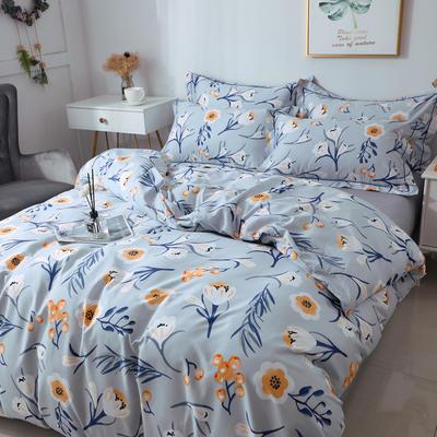 2021新款13372全棉系列四件套-4月新款 1.5m床单款四件套 芬兰