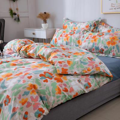 2021新款13372全棉系列四件套-4月新款 1.5m床单款四件套 夏洛克花园