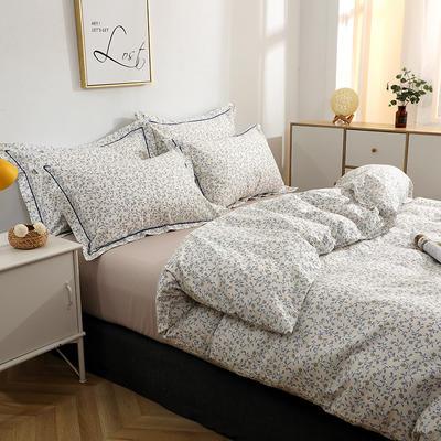 2021新款13372全棉系列四件套-5月新款 1.5m床单款四件套 暗香
