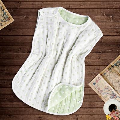 那里家纺     睡袋爬服     无袖睡袋绿点 40*60 绿色睡袋