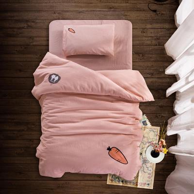 婴童床品套件 水洗棉套件多件套 被套110*150 枕套28*38 胡萝卜(五件套)