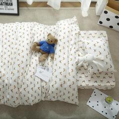 婴童床品套件   针织印花三件套 被套120*150 公主裙