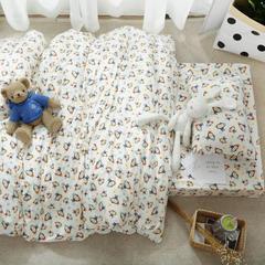 婴童床品套件   针织印花三件套 被套120*150 小猴子