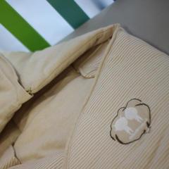 天然彩棉冬款多功能睡袋抱被