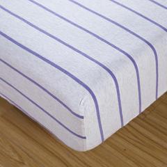 婴童床品套件 针织棉无印系列多件套 被套120*150 紫色(床笠)