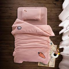 婴童床品套件 水洗棉套件多件套 被套110*150 枕套28*38 胡萝卜(被套+枕套+床单)