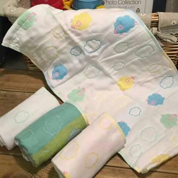 4层纱布童巾-小彩羊