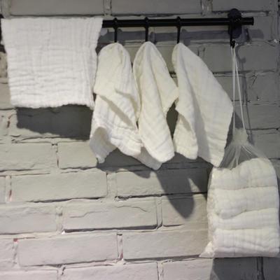 5条装医用纱布方巾—纯白方巾 25x25cm 纯白