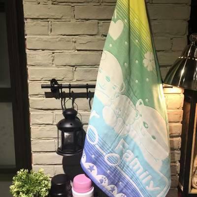 日单纱布浴巾70*140-花色随机 浴巾 70*140 花色随机
