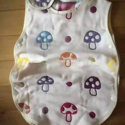 全棉四层纱布无袖睡袋-蘑菇 40*60 蘑菇