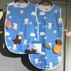 六层纱布睡袋--王子系内 小40*60 小猪佩奇蓝色