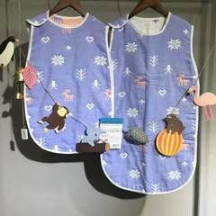 六层纱布睡袋--王子系内 小40*60 小鹿紫色