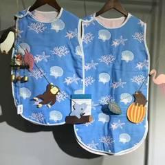 六层纱布睡袋--王子系内 小40*60 贝壳蓝色