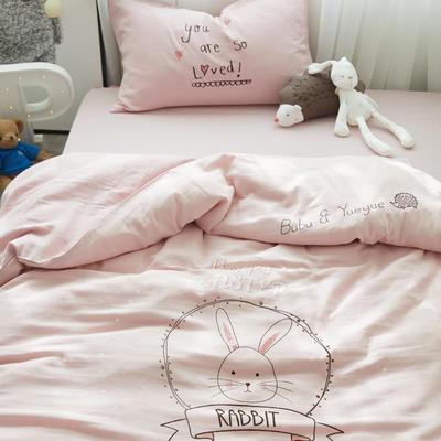 安抚兔 三件套 120*150 粉色
